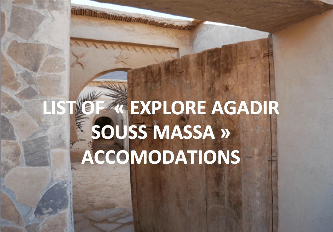 """Accommodations """"Explore Souss Massa"""""""