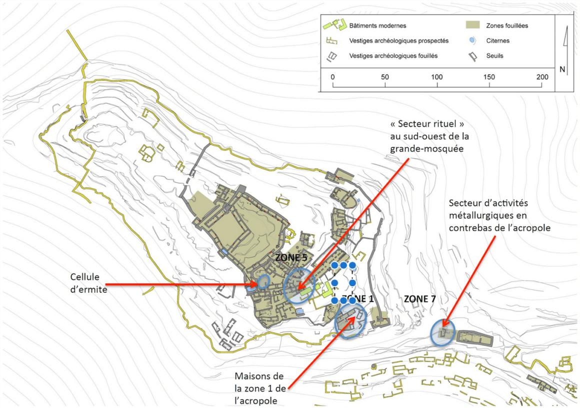 Igiliz - Plan du site