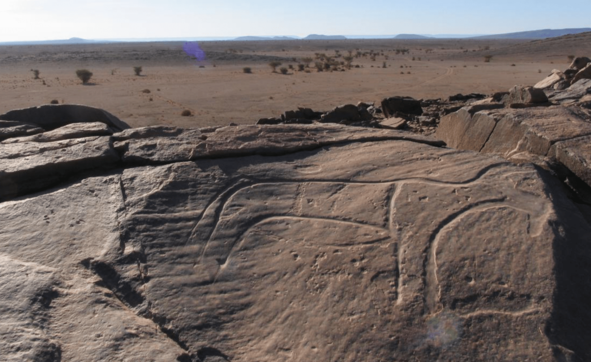 Gravures rupestres - Jbel Bani