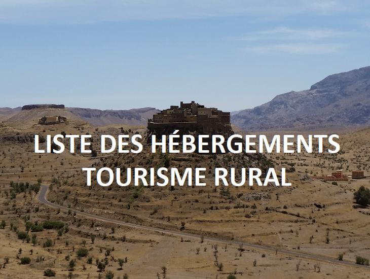 Hébergements tourisme rural